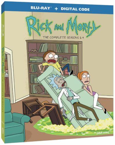 Rick and Morty Seasons 1 through 4 Blu-ray box