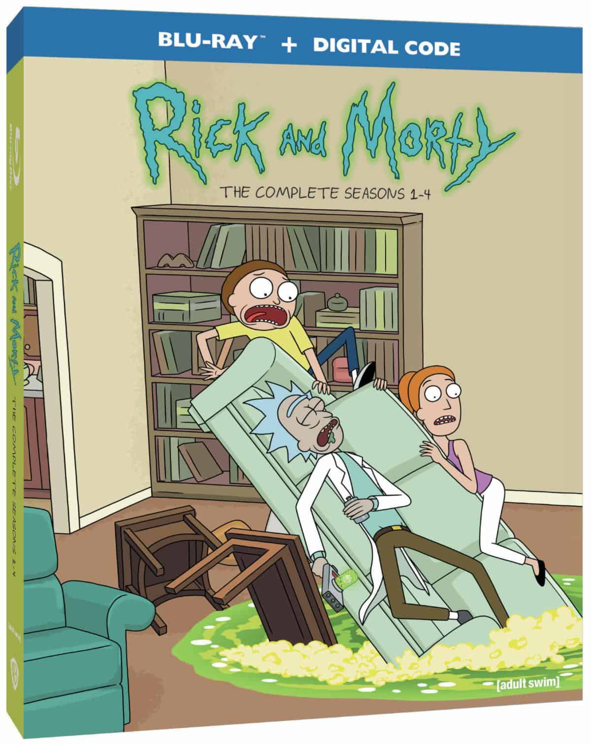 Rick and Morty Seasons 1 through 4 Blu-ray box