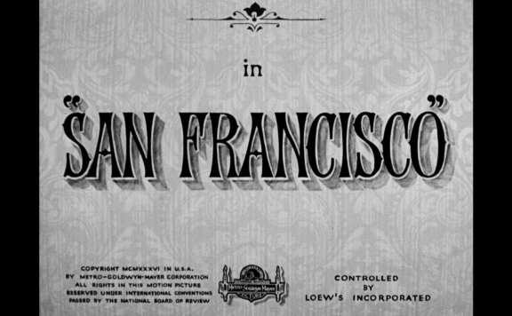 San Francisco Blu-ray title