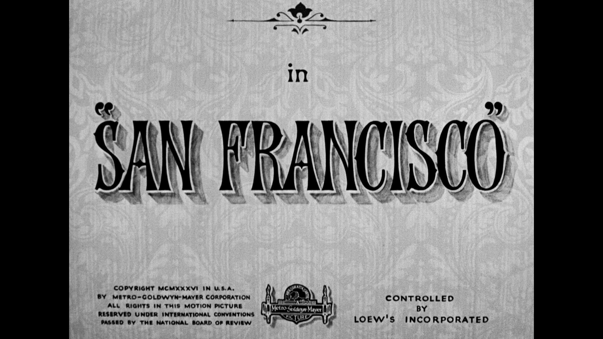 San Francisco Blu-ray title