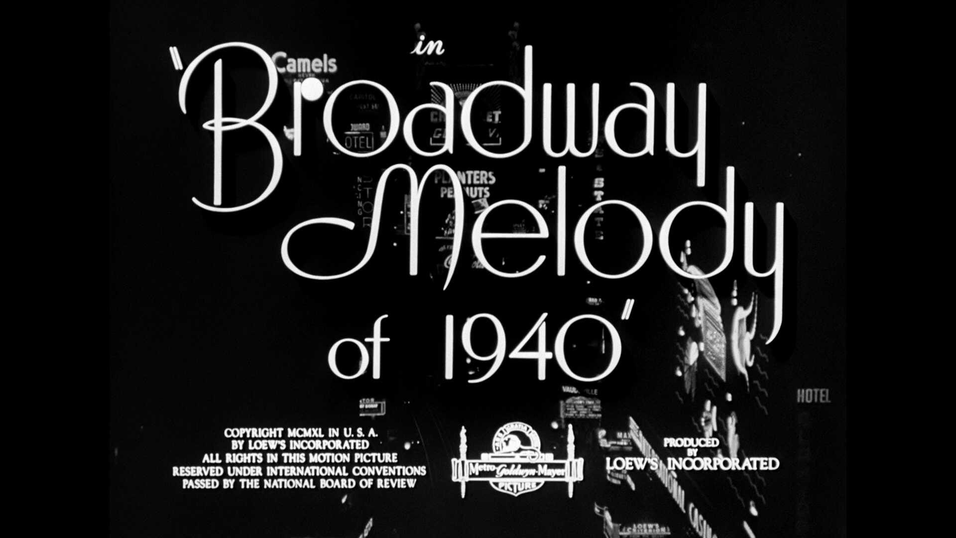 broadway melody of 1940 title