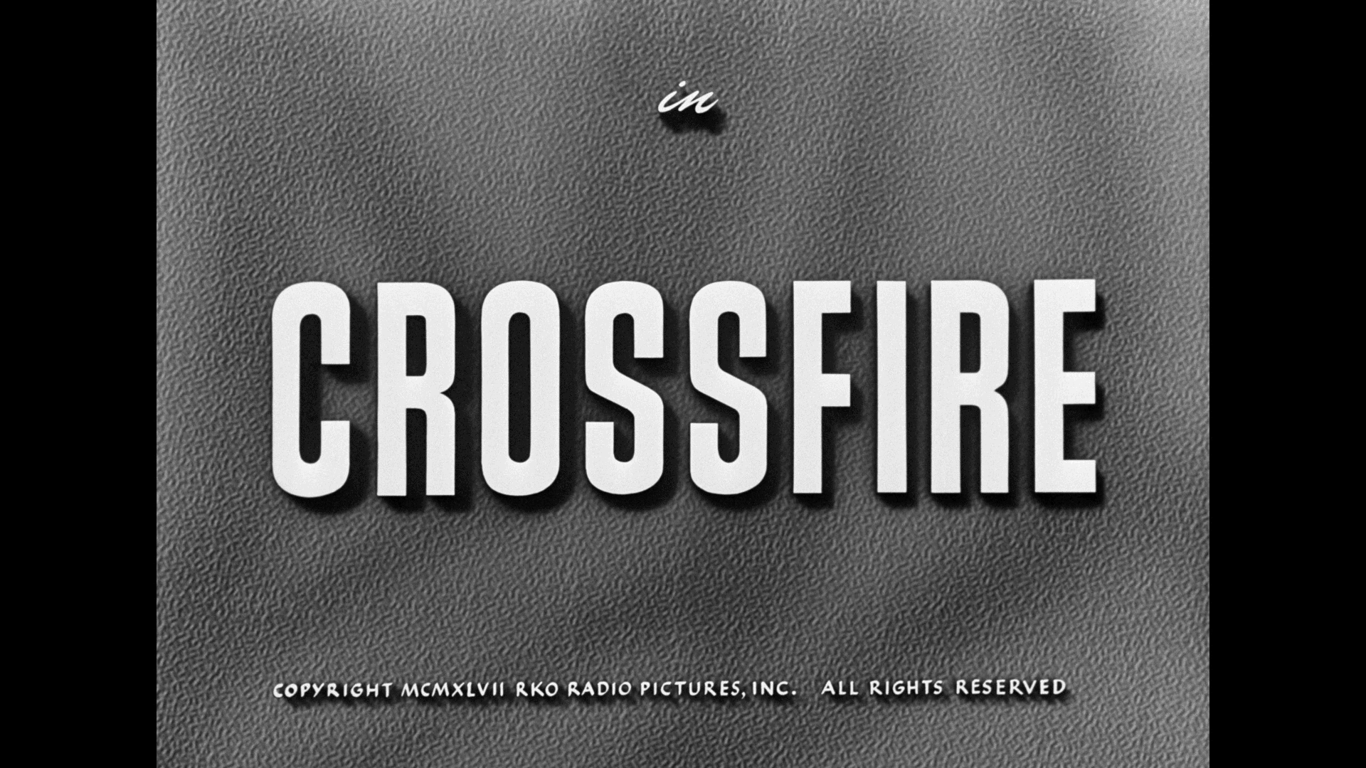 Crossfire title Warner Archive Blu-ray March 2021