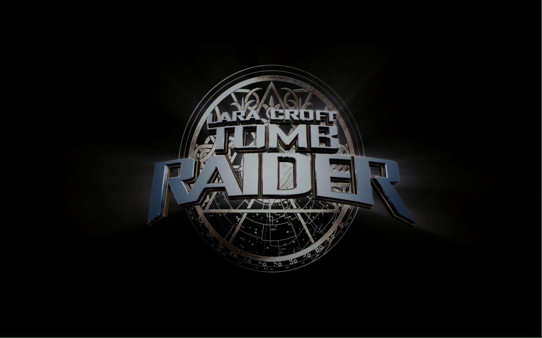 Lara Croft Tomb Raider 4K UHD logo Spongebob