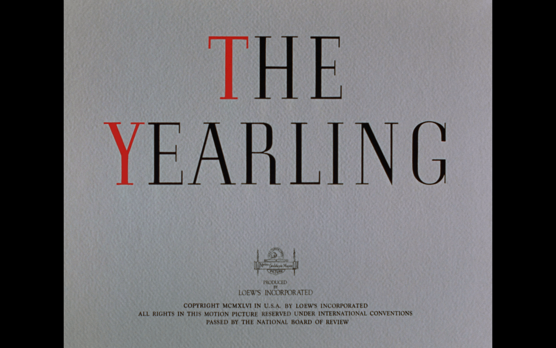 the yearling warner archive title
