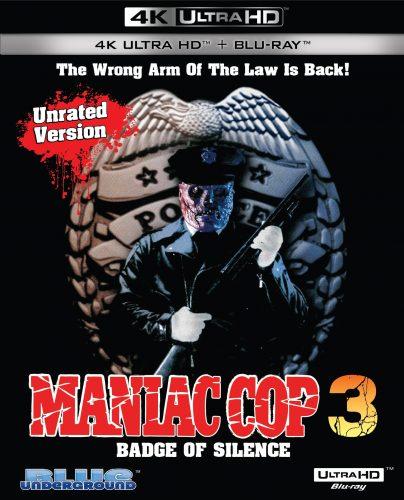 Maniac Cop 3 4K UHD box art