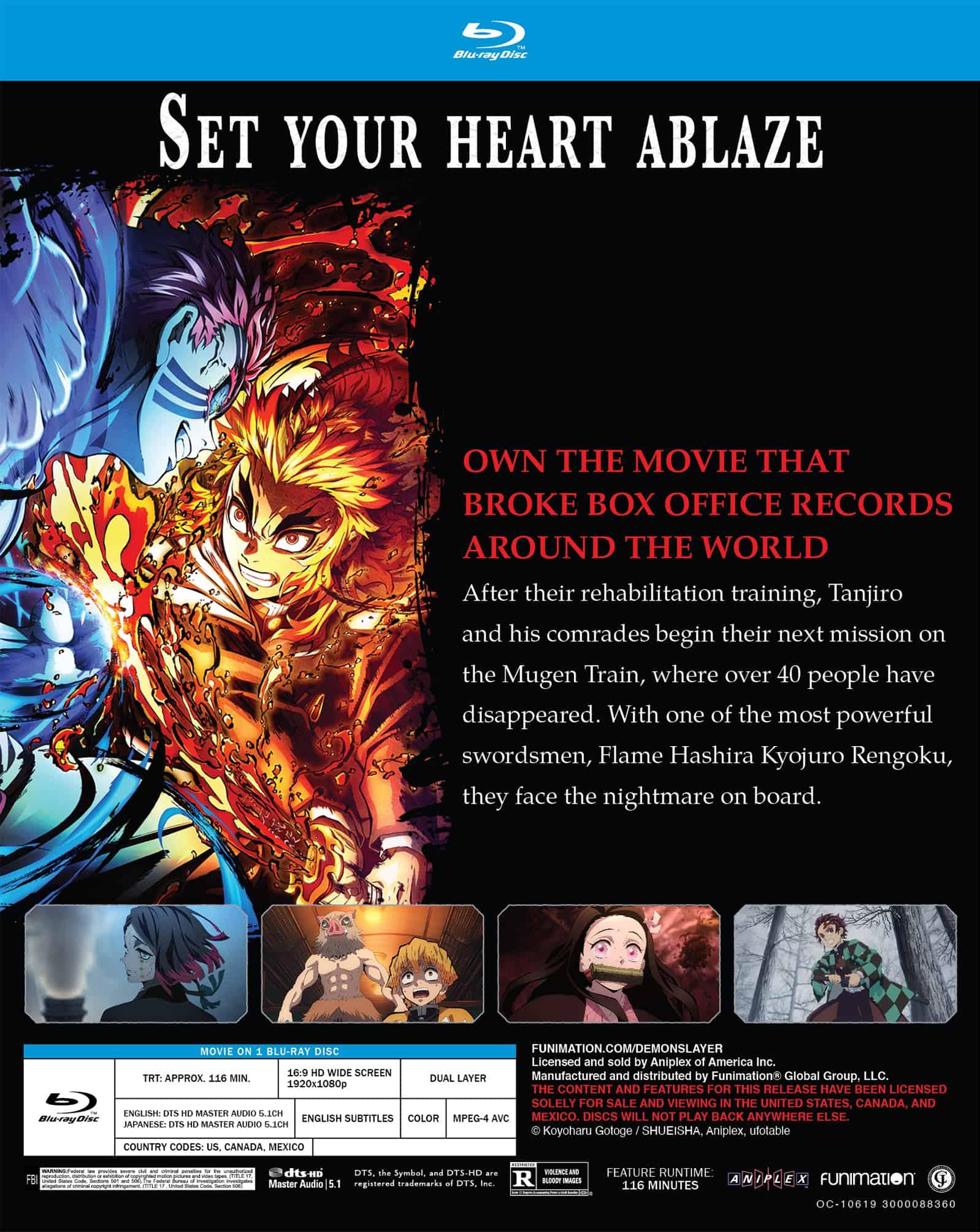 """Demon Slayer -Kimetsu No Yaiba- The Movie: Mugen Train"" Arrives To The Station On Blu-ray On December 21, 2021 2"