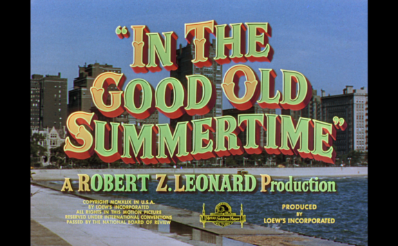 in the good old summertime title