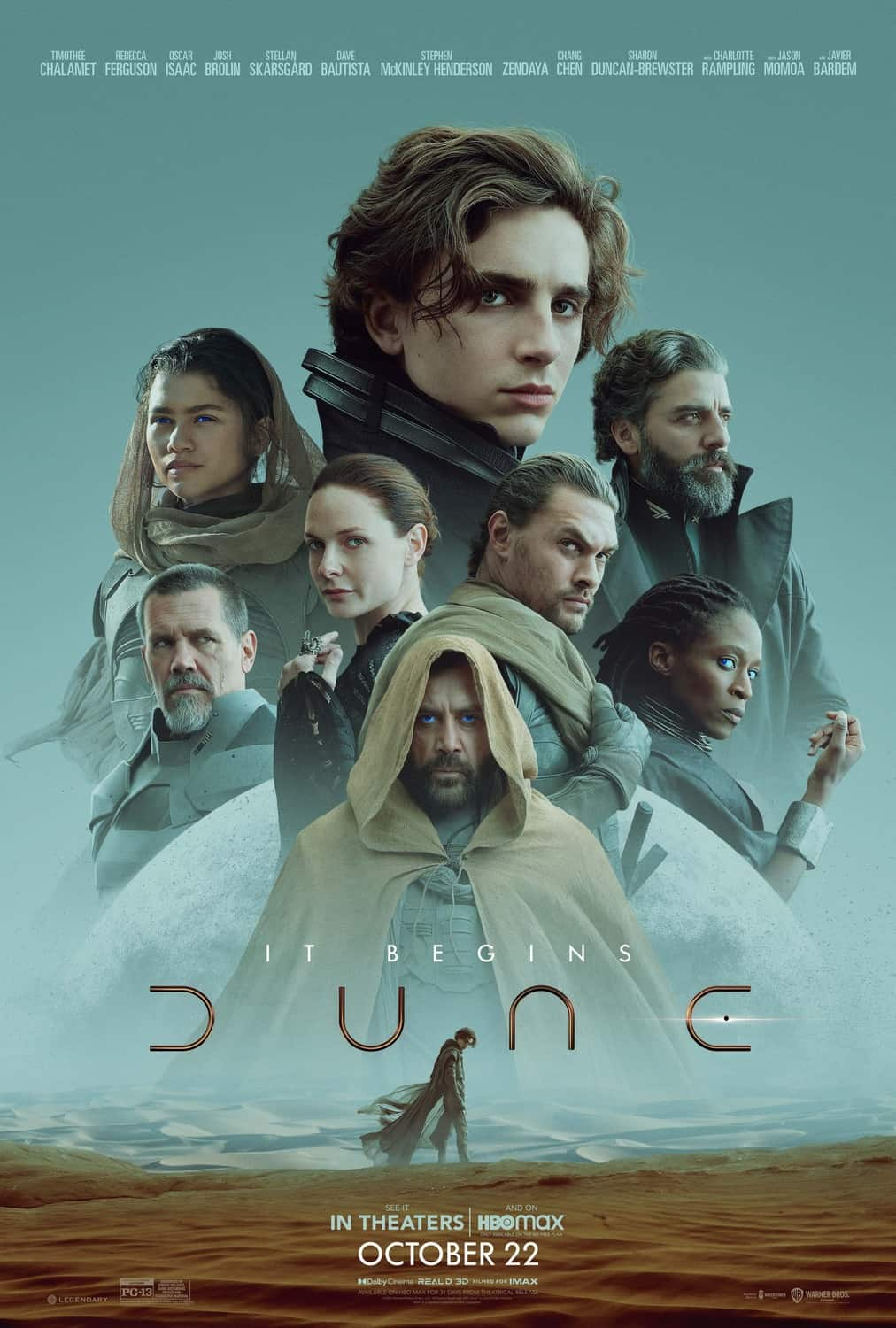 Dune 2021 HBO Max streaming IMAX theaters promo poster